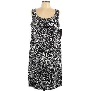 SIGNATURE BY ROBBIE BEE Floral Sheath Dress 14W